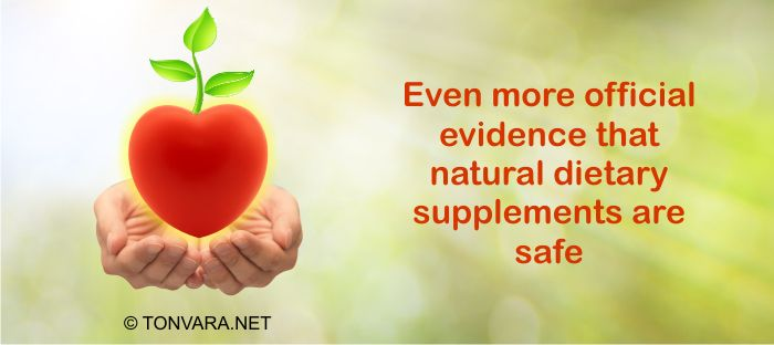Official evidence shows that natural dietary supplements are safe