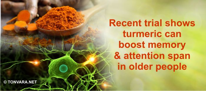 Turmeric shown to boost memory and attention span in the elderly in a recent study