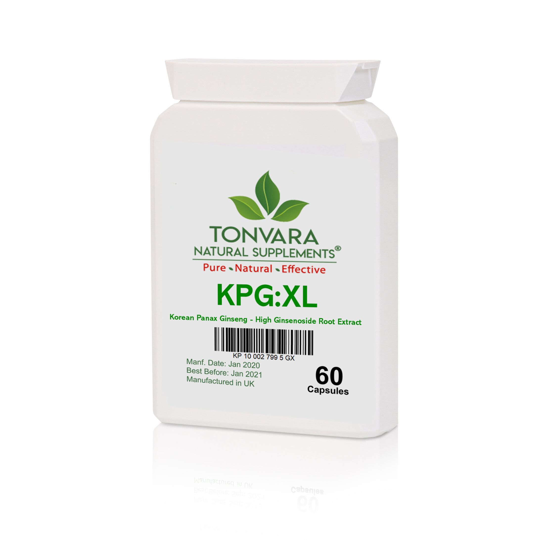 New Formula Tonvara KPG:XL Korean Panax Ginseng Pure Root Extract