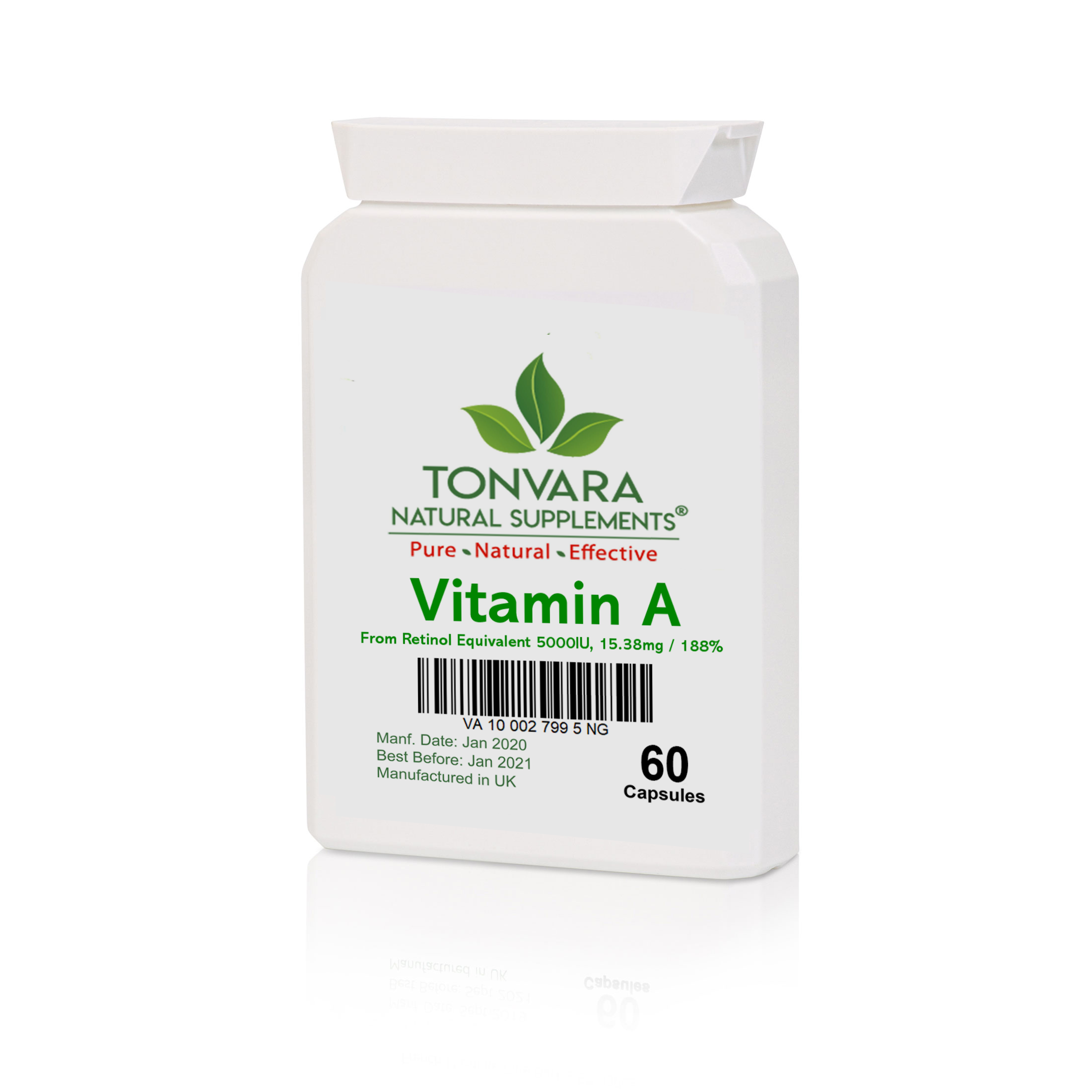 Tonvara Vitamin A (From retinol equivalent to 5000IU)