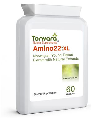 Tonvara Amino22:XL Amino Booster with Patented Young Tissue Extract (YTE) - similar to Laminine