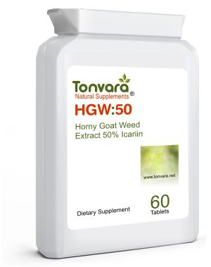 Tonvara HGW:50 Horny Goat Weed 50% Icariin - can improve male intimate functions