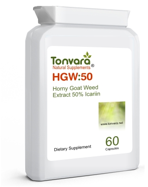 Tonvara HGW:50 Horny Goat Weed 50% Icariin - can improve male intimate functions - now in capsules