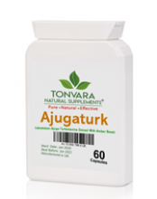 Tonvara AjugaTurk Genuine Uzbekistan Turkesterone from Ajuga Turkestanica Extract with AmberBoost for double the power