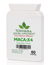 Tonvara MACA:X4 Peruvian 4.1 Maca Extract now in capsules at lower prices!