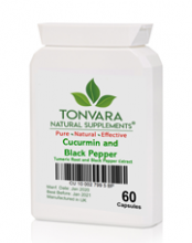 Tonvara Cucurmin and Black Pepper Extract - Tumeric Root and Black Pepper Extract