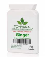 Tonvara Ginger Zingiber Officinale 139mg 23:2