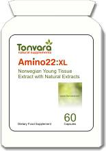 Tonvara Amino22:XL Amino Booster with Patented Young Tissue Extract (YTE) - similar to Laminine - SPECIAL OFFER - 20% OFF