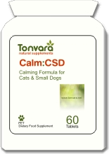 Tonvara For Pets CALM:CSD calming formula for cats & small dogs