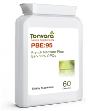 Tonvara PBE:95 French Maritime Pine Bark Extract 95% OPCs - now in capsules