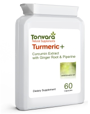 Tonvara Turmeric+ Curcumin Extract with Ginger Root & Piperine - UPGRADED FORMULA!
